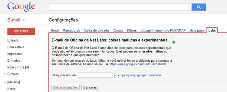 Gmail agora permite cancelar o envio de um e-mail
