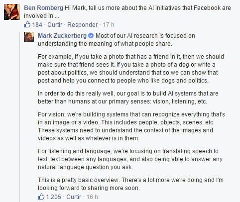 Mark Zuckerberg responde perguntas dos usuários no Facebook