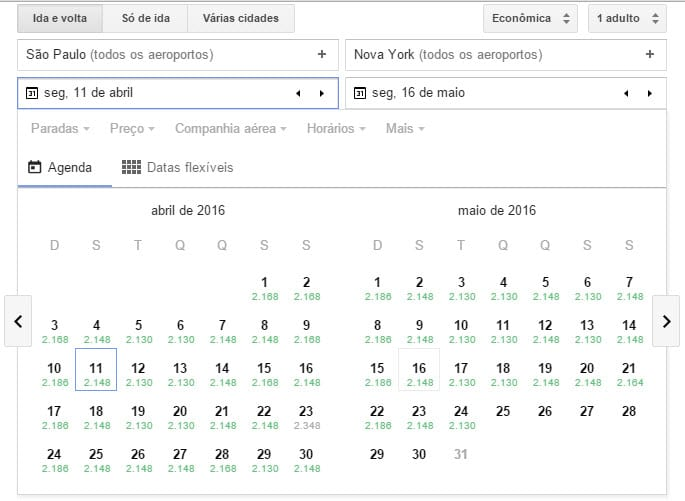 Google Flights - Economize na hora de comprar aéreas