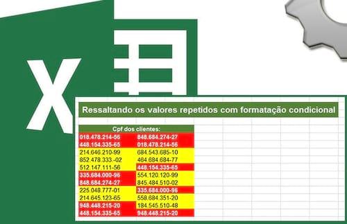 Achando valores repetidos ou exclusivos com formatação condicional no Excel