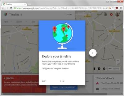 Google disponibiliza ferramenta no Google Maps que mostra hist�rico de onde voc� passou