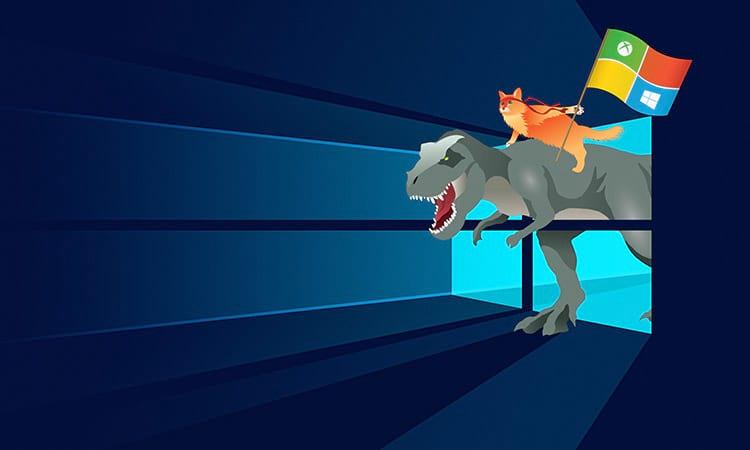 windows,  microsoft, anniversary, update, кот  № 1182176 без смс
