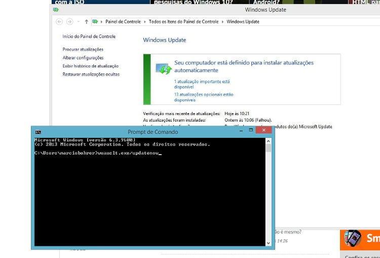 Como forçar a atualização do Windows 10