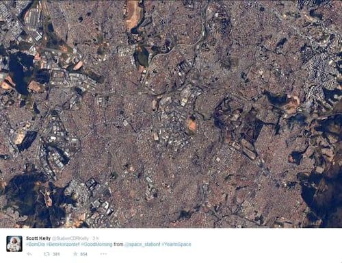 Belo Horizonte ganha bom dia do espaço