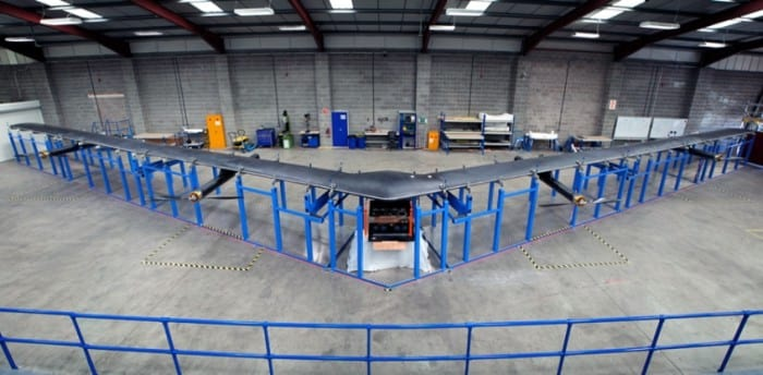 Drone movido a energia solar do Facebook poderá fornecer internet