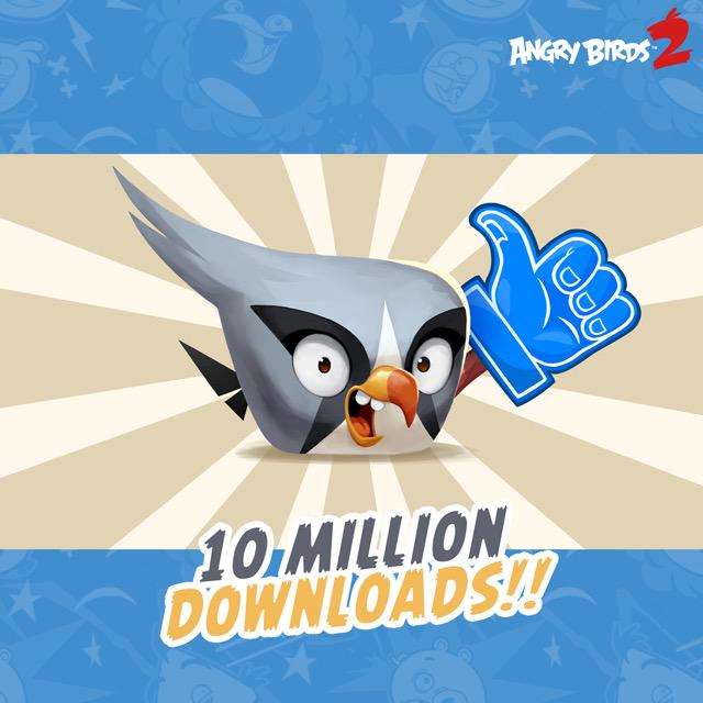 Angry Birds 2 chega a marca de 10 milhões de downloads