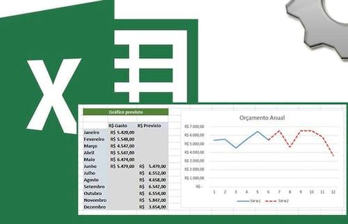Criando um gráfico com linha de previsão no Excel