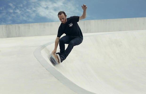 Skate voador é testado na Espanha