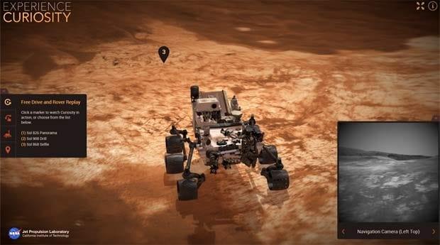 Explore a superfície de Marte com o site da NASA