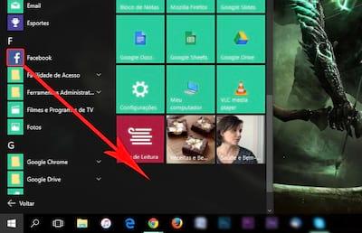 Como criar grupos de apps no menu iniciar do Windows 10?
