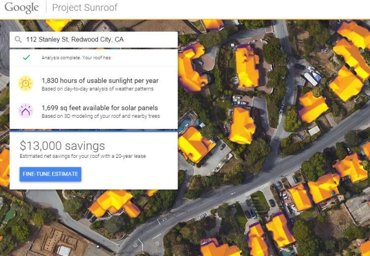 Projeto do Google pretende mapear telhados para produzir energia solar