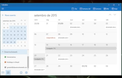 Como importar meu calend�rio do Google para o Windows 10?