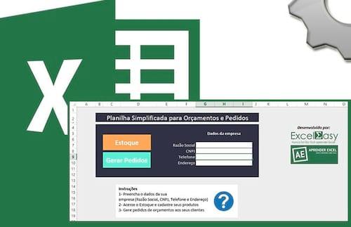 Planilha gratuita de Orçamento e pedidos no Excel