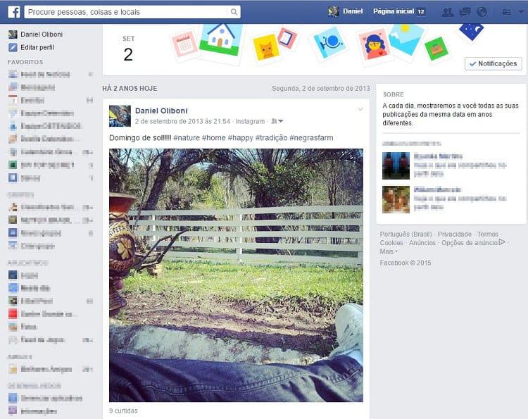Como ativar ou desativar suas recordações no facebook?