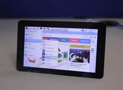Raspberry Pi chega com tela sens�vel ao toque de 7 polegadas
