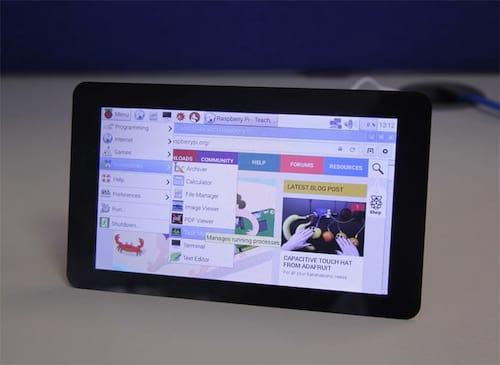 Raspberry Pi chega com tela sensível ao toque de 7 polegadas
