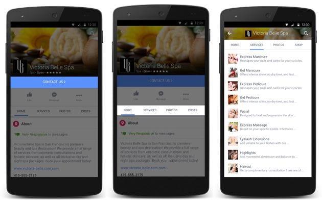 Páginas mobile do Facebook recebem novas funcionalidades