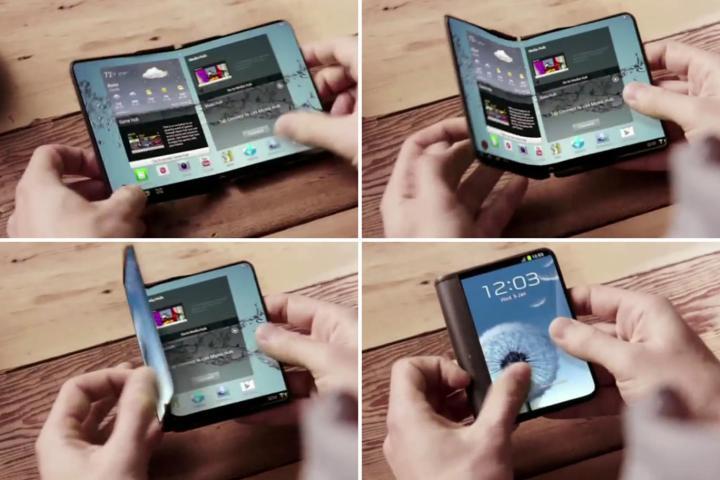 Samsung deve lançar smartphone dobrável no próximo ano