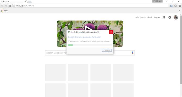 Bug faz com que Chrome trave com 16 dígitos