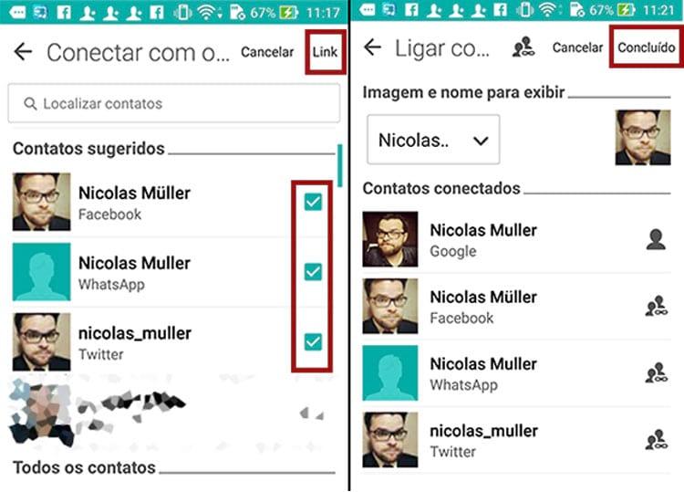 Como mesclar contatos e organizar a agenda no Android