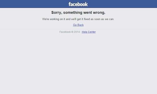 Facebook fora do ar de novo