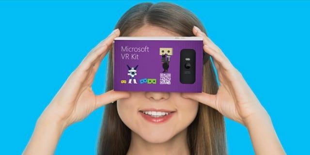 Microsoft pretende lançar produto de realidade virtual que lembra o Google Cardboard