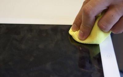 Como limpar telas touchscreen?