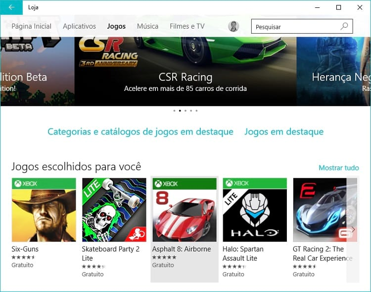 Dica de app para Windows 10 - Asphalt 8: Airbone