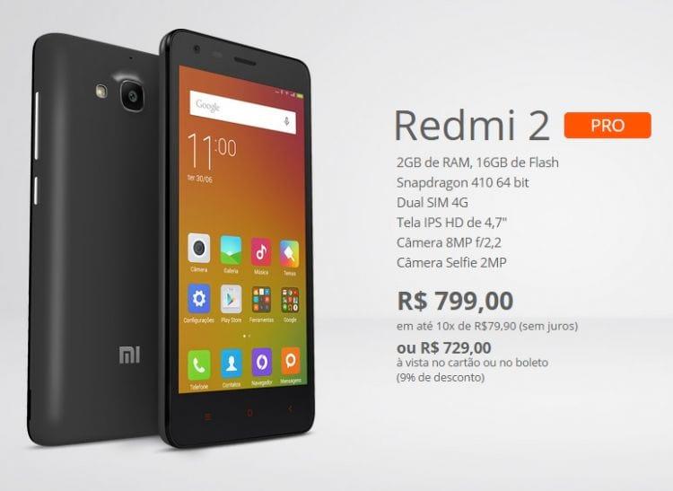 Xiaomi Redmi 2 Pro desembarca no Brasil por R$ 729
