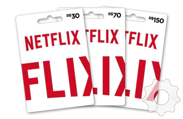 Chegaram os cartões pré-pago de Netflix