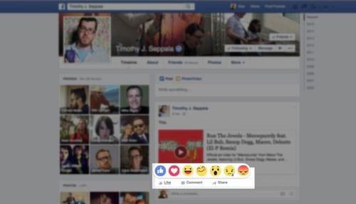 Facebook inicia os testes para alternativas ao botão curtir