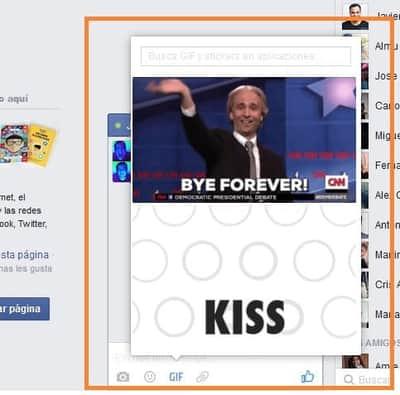 Facebook recebe bot�es de GIF no Messenger para computador
