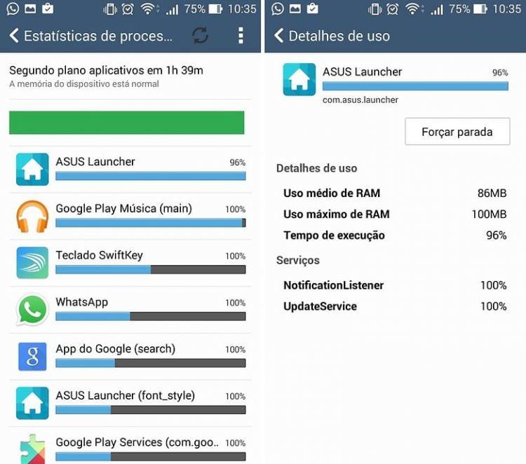 Funções de desenvolvedor escondidas no Android