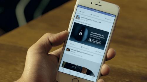 Agora, usuários poderão ouvir músicas do Spotify e do Apple Music direto do Facebook