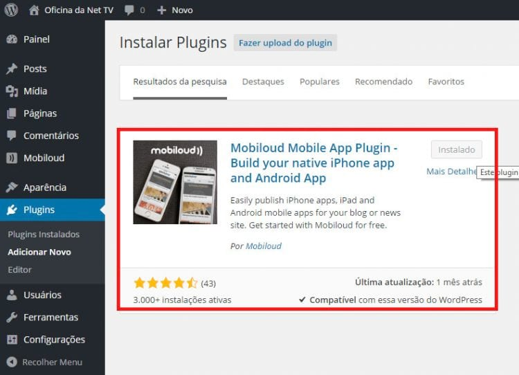 Review Mobiloud plugin - A fábrica de Apps
