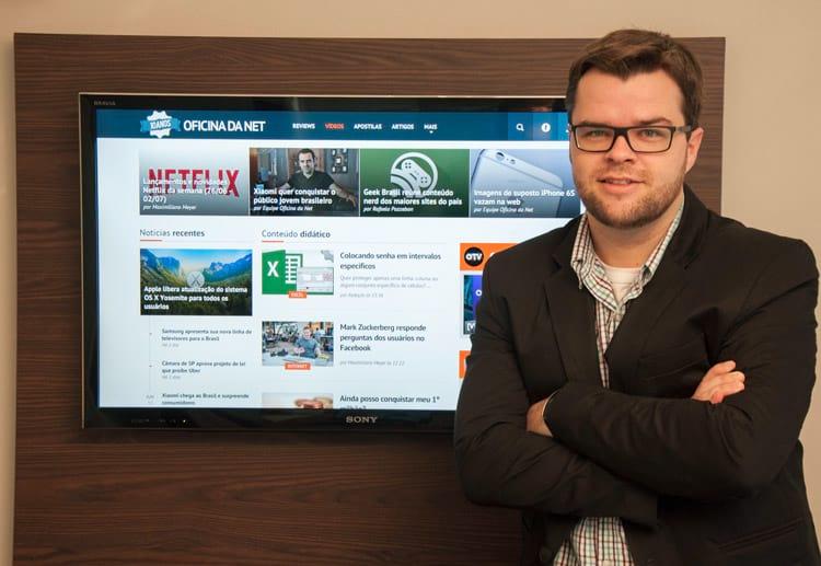 Nícolas Müller, criador do Oficina da Net e fundador da Desenvolve Web