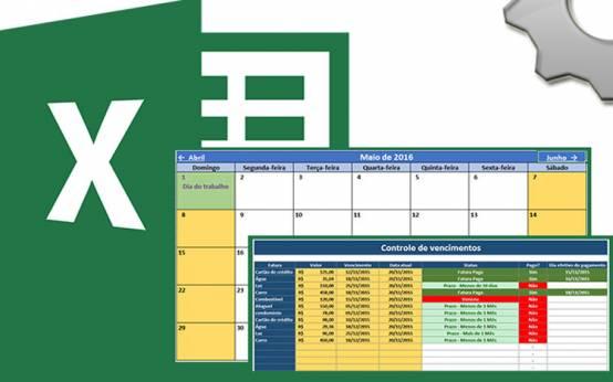 Calend�rio e agendador de tarefas 2016 no Excel