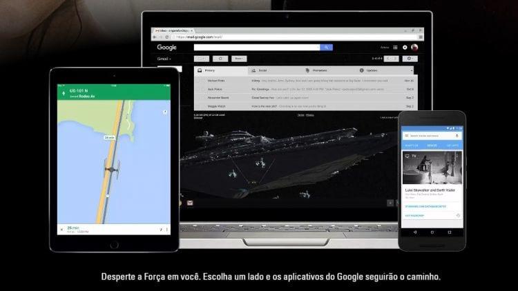 Google altera aplicativos conforme o lado de força do usuário