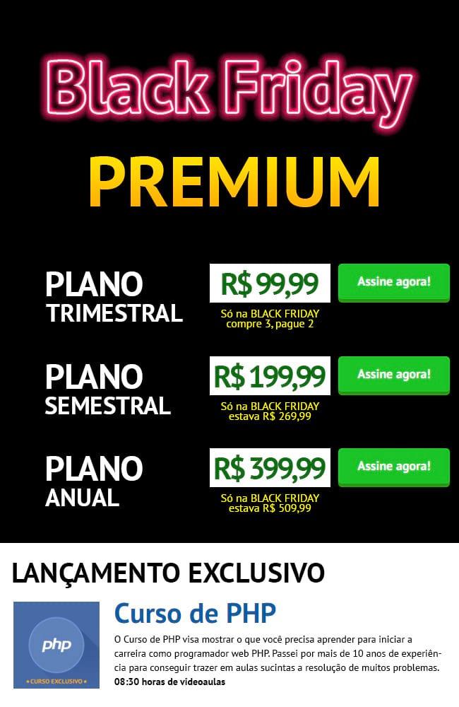 Promoção Black Friday Oficina da Net Premium