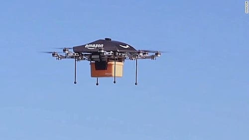 Amazon exibe vídeo de drones realizando entregas