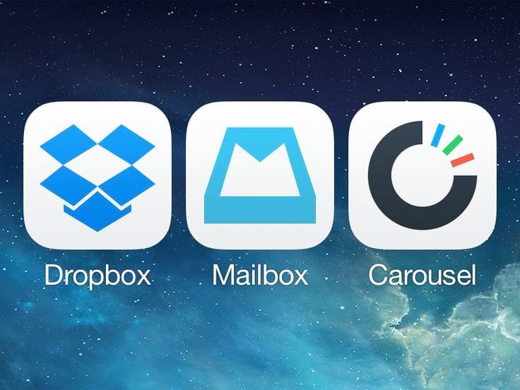 Fim do Mailbox e Carousel, do Dropbox