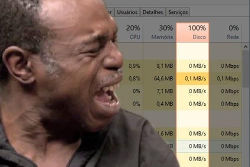 Como resolver o problema de Consumo de disco em 100% no Windows