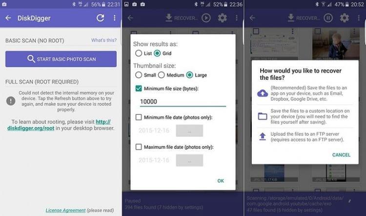 Como recuperar as fotos apagadas no Android?