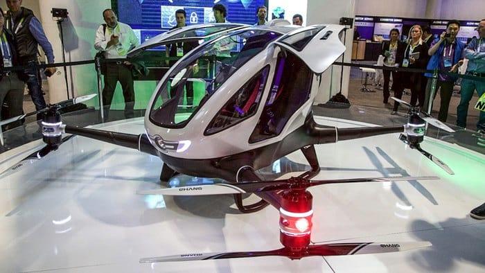 Empresa chinesa revela drone capaz de transportar uma pessoa