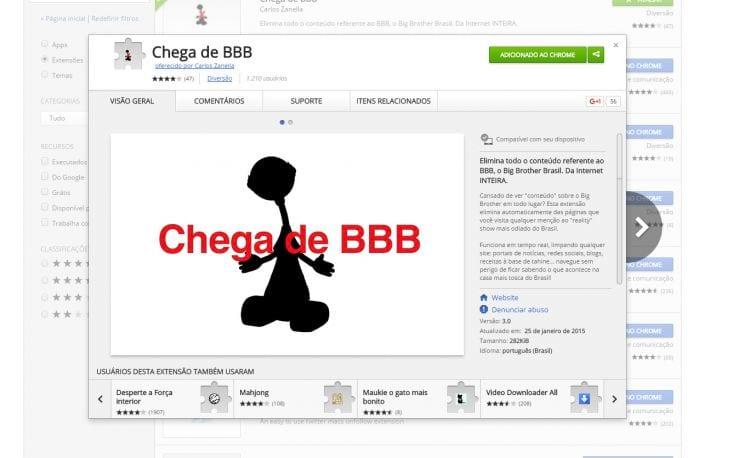 Como bloquear conteúdos relacionados ao BBB 16 no Chrome