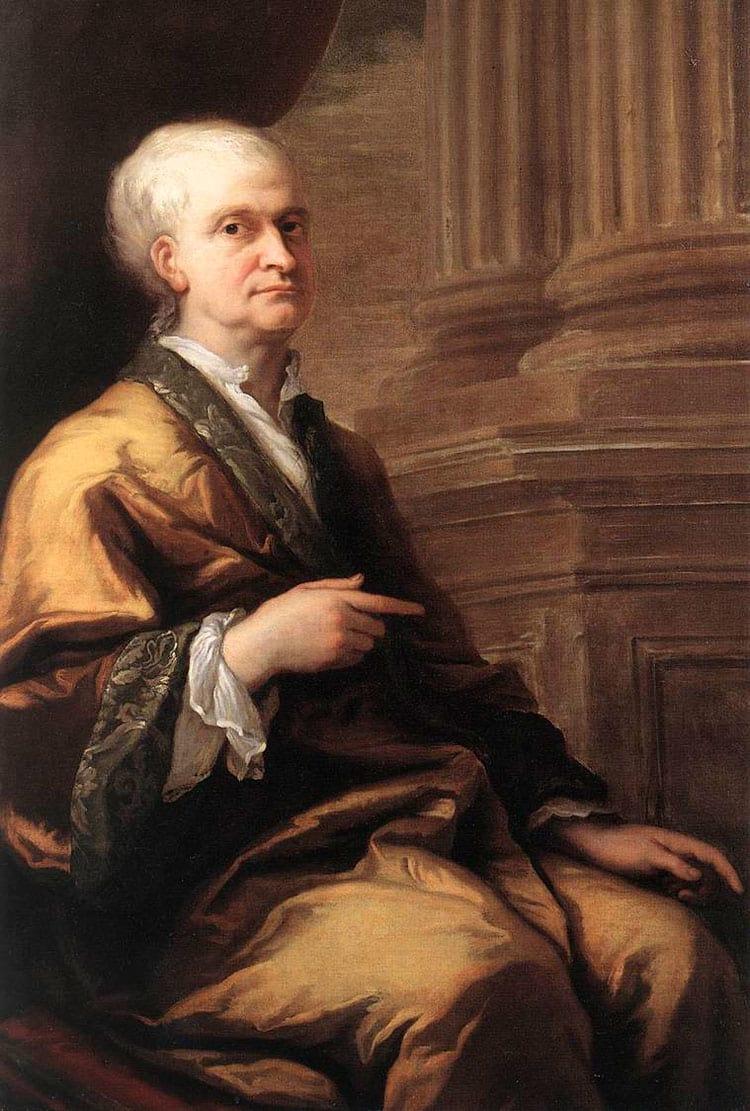 Newton em 1712 com