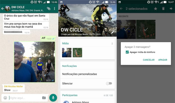 Como excluir pastas de documentos, fotos e vídeos do Whatsapp no Smartphone