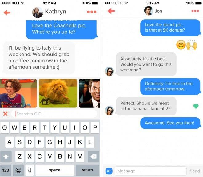Tinder permite o envio de GIFs e conta com botão de curtir mensagens
