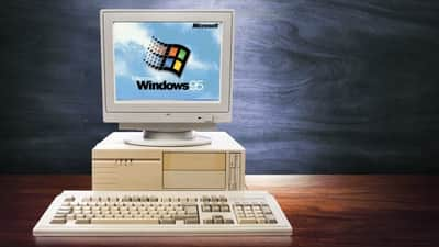 Site oferece simula��o de uso do Windows 95
