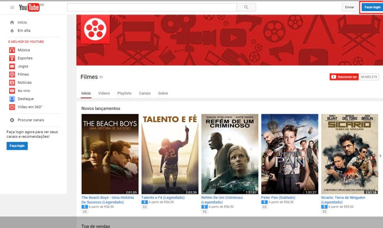 Saiba como assistir filmes de forma legal no Youtube